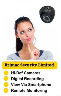 Brimac Security Ltd. installs CCTV systems with Hi-Def cameras, digital recording which can be viewed from your smart phone with remote monitoring, Donegal and L/Derry, Ireland, Northern Ireland & UK