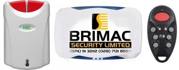 Burglar alarm system as installed by Brimac Security Limited, Donegal & Derry, Ireland